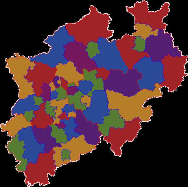 Nordrhein Westfalen Karte.Landkarte Inklusionskataster Nrw